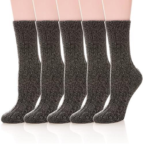 7aceed2cc09b5 Buy Womens 5 Pairs Soft Thick Comfort Casual Cotton Warm Wool Crew Winter  Socks with Ubuy Kuwait. B07F1JJ9P9