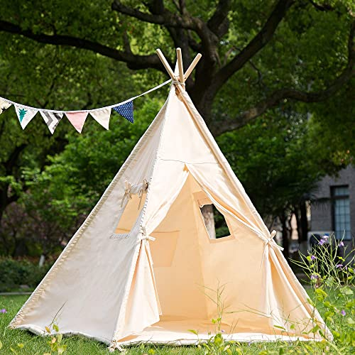 separation shoes 01c20 08567 Buy Samincom Teepee Foldable 100% Cotton Tent - Large Indoor ...