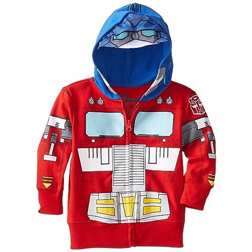 Transformers Optimus Prime Hooded Jacket Boys Red Blue 2 Toddler