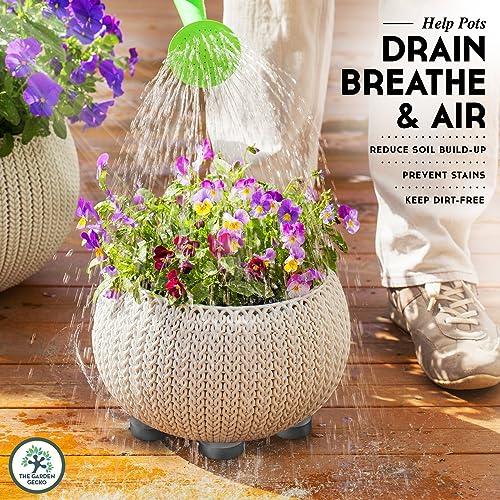 24Pcs Invisible Plant Pots Rubber Flower Pot Mat Feet Risers Pad For Garden UK