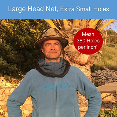 No Chemicals Soft Durable Fly Screen Insect Repellent Netting Largest Size EVEN Naturals Premium MOSQUITO HEAD NET Bug Face Shield Carry Bag Extra Fine Holes Protection for any Outdoor Lover