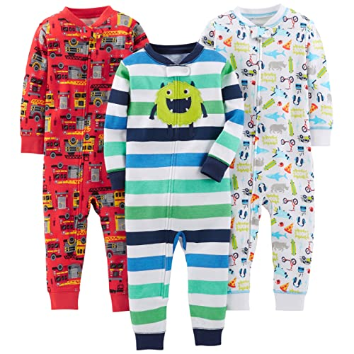 Simple Joys by Carters Baby-Girls 3-Pack Snug Fit Footed Cotton Pajamas