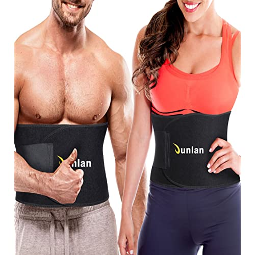 Mesh Bag Included Neoprene Slim Body Sweat Wrap for Stomach Sauna Exercise 4EverShape Waist Trimmer Trainer for Women /& Men Weight Loss Sweat Belt