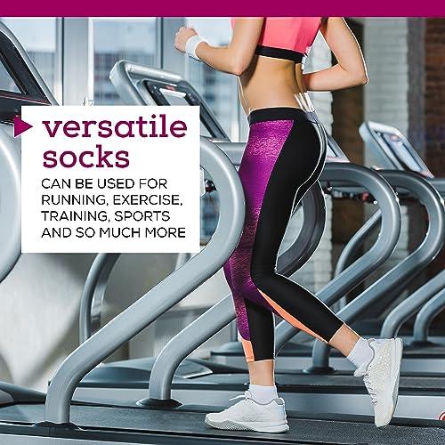 Women/'s Athletic No Show Running Socks 12 Pack 12 Pack by ZEKE Black