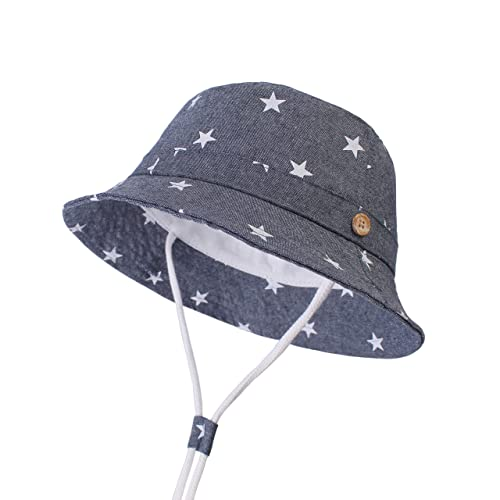 03b41d36 Buy LANGZHEN Sun Protection Hat for Kids Toddler Boys Girls Wide Brim  Summer Play Hat Cotton Baby Bucket Hat with Chin Strap with Ubuy Kuwait.  B07M9D6BSX