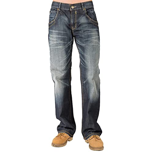 041da65a458 Buy Level 7 Mens Relaxed Bootcut Premium Jeans Whisker Handsand Wash Zipper  Pocket with Ubuy Kuwait. B06Y5JFDDX