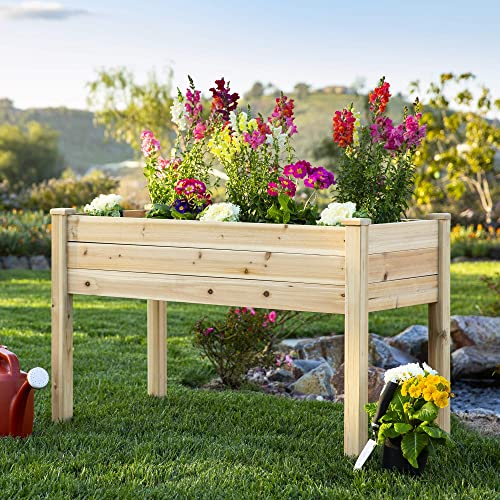 Buy Best Choice Products 46x22x30in Raised Wood Planter Garden Bed