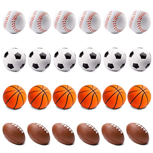 SET OF 12 MINI STRESS BASEBALLS PARTY FAVOR GOODY BAGS CARNIVAL TREAT BALLS BALL