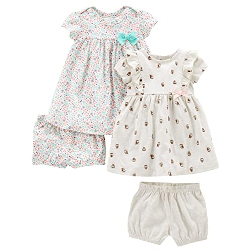 1cf7ebe2768 Buy Simple Joys by Carter's Baby and Toddler Girls' 2-Pack Short-Sleeve and Sleeveless  Dress Sets with Ubuy Kuwait. B0797LZKX6