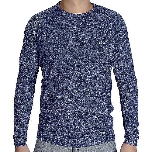 LIFINAIS Long Sleeve t Shirt Men Moisture Wicking Workout Gym Running Athletic Shirts