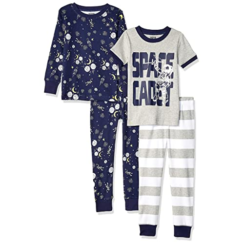 XX-Large Space Cadet 14 Spotted Zebra 4-Piece Snug-Fit Cotton Pajama Pyjama Set