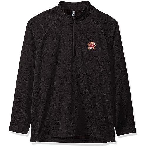 Black 2X Ouray Sportswear NCAA Iowa Hawkeyes Legacy DLX Crew Sweatshirt
