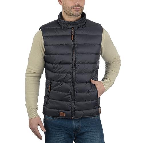BLEND 703589ME Mens Quilted Gilet Vest Waistcoat Banded Collar