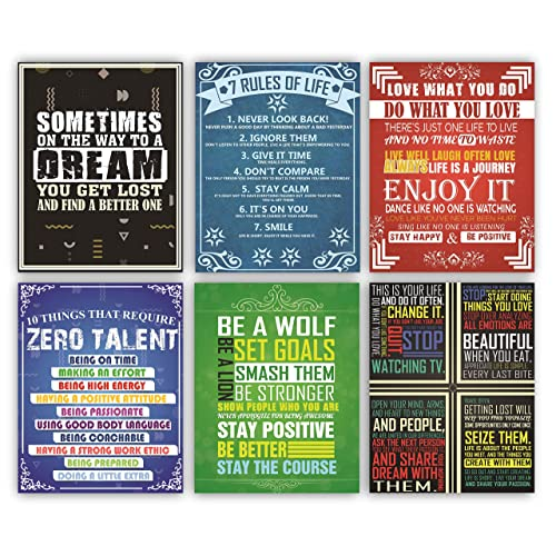 Buy 6 Motivational Posters And Inspirational Wall Decor Positive Mindset Quotes Wall Art For Home Office Classroom Decorations Perfect For Living Bedroom Shipped Flat Poster Paper 11 X 14 Inch Online In Kuwait B07xh59l2d