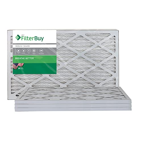 Nordic Pure 24x36x2 Exact MERV 10 Pleated AC Furnace Air Filters 4 Pack