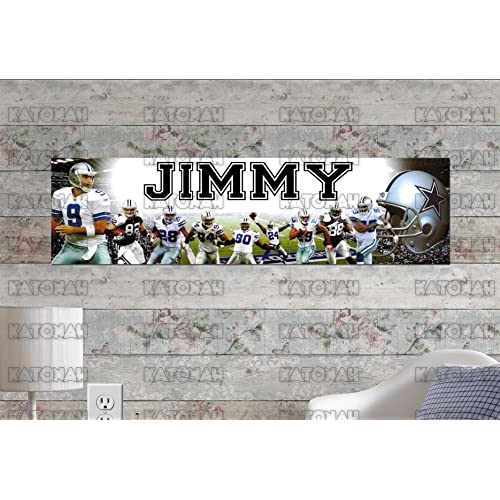 Personalized Customized Texas Longhorns Name Poster Sport Banner with Frame