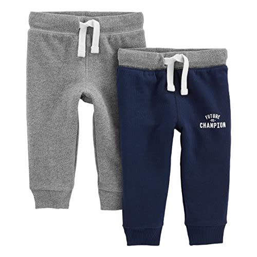 Aimama Baby Toddler Boys Pants Cotton Harem Ankle Sweatpants Dark Gray for 12M-6T Baby Boys
