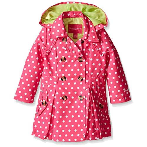 6X Khaki London Fog Girls Little Lightweight Trench Dress Coat Jacket