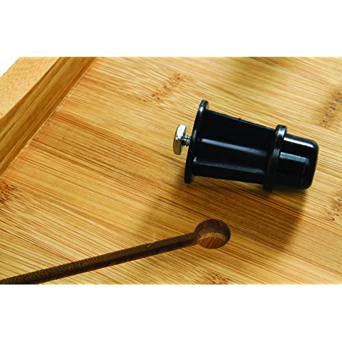 Covers Stove Top To Create Additional Kitchen Workspace Camco Bamboo Stove Top Work Surface with Adjustable Legs /& Built In Juice Groove 43547 2 Burner