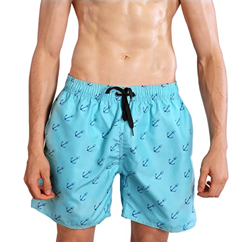 Flag of Hong Kong Mens Modern Beach Shorts Surf Board Quick-Drying Swim Trunks