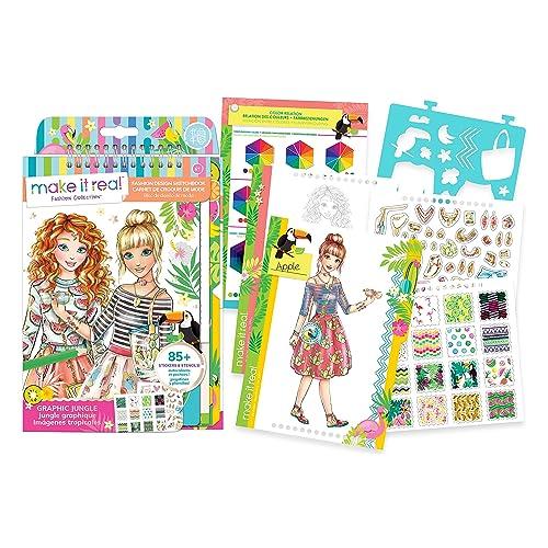 Buy Make It Real Fashion Design Sketchbook Graphic Jungle Inspirational Fashion Design Coloring Book For Girls Includes Sketchbook Stencils Puffy Stickers Foil Stickers And Fashion Design Guide With Ubuy Kuwait B06xgpr1ks