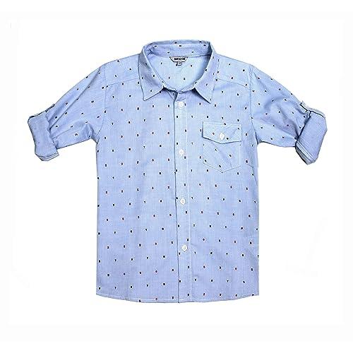 Essentials Toddler Boys Short-Sleeve Button-Down Shirt 2T Anchor Navy Palace