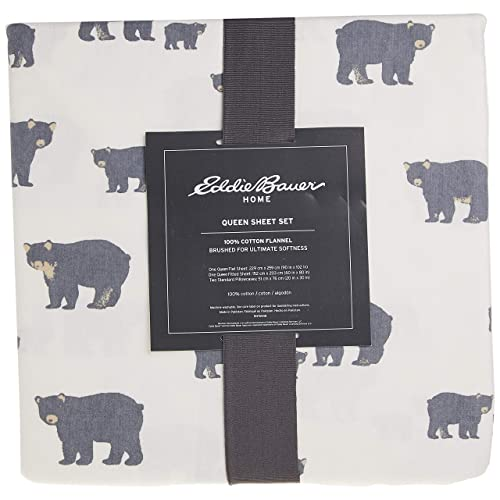 Eddie Bauer Bear Family Flannel Sheet Set Queen Gray Buy Products Online With Ubuy Kuwait In Affordable Prices B01gloyfu4