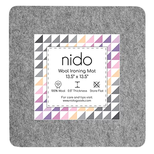 Perfect Size of 17x 13.5 Ironing Pad for Quilters 100/% New Zealand Wool Ironing Mat and Embroidery Tray by PRIMELLER Wool Pressing Mat for Quilting