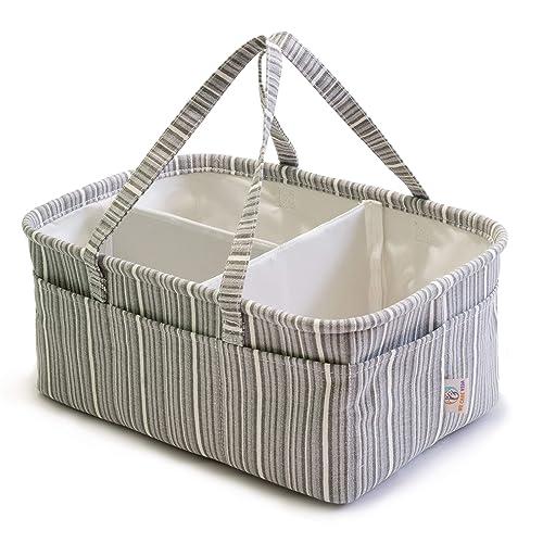 Baby Windelablage Organizer Aufbewahrungskorb f/ür Wickeltisch und Auto Baumwollseil Aufbewahrungskorb f/ür Kinderzimmer