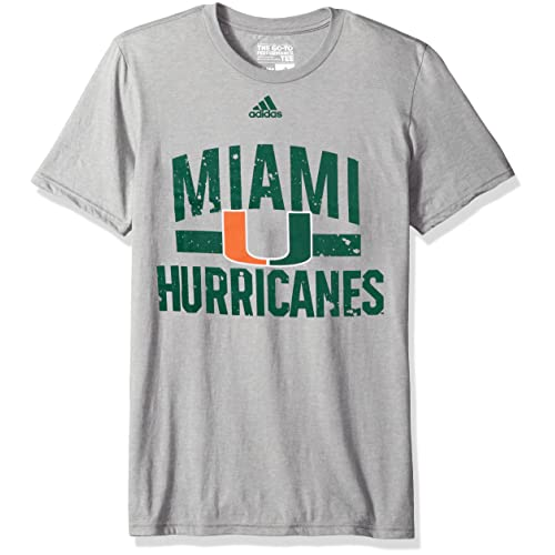 Dark Green adidas NCAA Miami Hurricanes Mens 2017 On Court Climalite S//Tee2017 On Court Climalite S//Tee X-Large