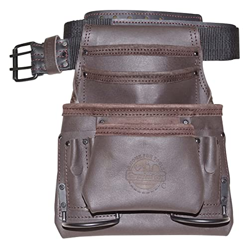 Graintex PS1234 10 Pocket Tool Pouch Oil Tanned Leather