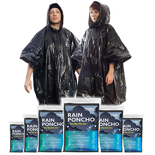 Emergency Waterproof Reusable Rain Ponchos With Hood For Festivals Camping