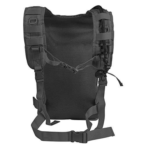 BLACK Molle Hydration Carrier Pack Water Backpack with 2.5 Liter Bladder