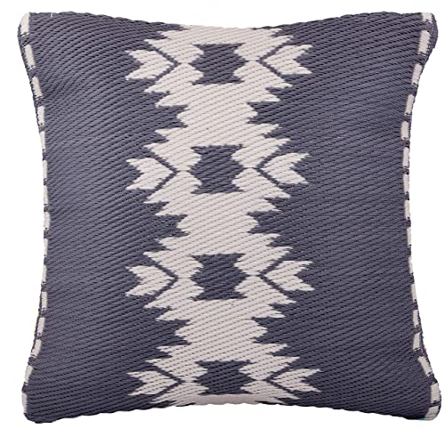 20 x 20 UV /& Weather Resistant Fab Habitat Outdoor Accent Pillow Seville Recycled Plastic Multicolor Blue