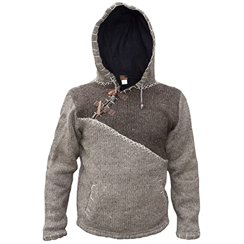 Super Cosy Festival Colorful Wool Patchwork Hippie Hoodie Mens Jacket,Hippy Boho