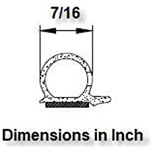 M M SEALS A079-13F D-Shape Weather Stripping Door Seal Soundproofing Hollow Black 0.39 Width X 0.39 Height 13 Feet