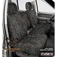 Covercraft SeatSaver Front Row Custom Fit Seat Cover for Select Ford E-Series Van Models Polycotton Grey SS2422PCGY