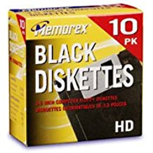 Discontinued by Manufacturer Memorex 3.5 Inch PC-Formatted High-Density Floppy Disks with File Box Colors 40-Pack