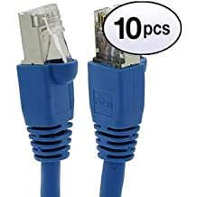 500 MHz Blue Snagless//Molded Boot 1 Feet GOWOS Cat6a Shielded Ethernet Cable