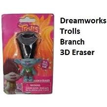 Dreamworks Trolls 3-inch Figural Puzzle Eraser Set 4-Pack Branch-Poppy-Guy Diamond Innovative Designs