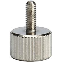 Uxcell a16052800ux0030 M4x6mm Carbon Steel Flat Point Knurled Head Thumb Screw Silver Tone 20pcs