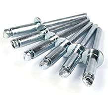 0.376-0.5 Grip Range Meets IFI Grade 50 Stainless Steel Blind Rivet #30 Drill Size 1//8 OD Pack of 100 0.650 Length