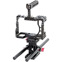 Top Handle High-Strength One Piece CNC Aluminum Professional Video Cage with Accessories Mounting Options CG-A7R3-01 Proaim Muffle Camera Cage for Sony A7RIII // A7 Mark 3 Cable Clamp