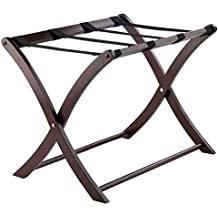 Dailyfun Portable Metal Luggage Rack Black 680400560MM Made of Material Convenient Articles for Daily Use 68 x 40 x 56cm Pleasant Enjoyable