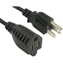 3 Foot UL Listed Cable Leader 14 AWG 15A 250V Power Cord 1 Pack NEMA 6-20P to IEC 320 C13