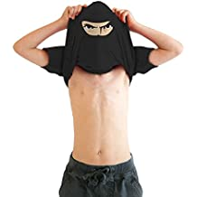 02702672e Youth Ninja Disguise Flip T Shirt Funny Cool Costume Mask Tee for Kids