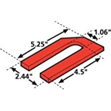 Pack of 6 Specialty Products Company 10405 2.5 x 5 x 0.5/° Aluminum Alloy Shim,
