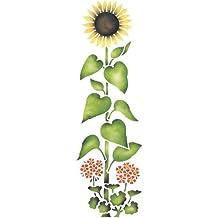 Sunflower Wall Stencil SKU #1777 by Designer Stencils