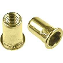 Grip Range: .027-.165 100 Piece Box Ribbed K Series Rivet Nuts Material: Steel-Yellow Zinc Thread Size: 1//4-20 UNC