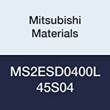 Mitsubishi Materials MS4ECD0300L45S04 MS4EC Series Carbide Mstar Square Nose End Mill for Swiss Type Lathes 4 mm Shank Dia Short Flute 3 mm Cutting Dia 3 mm LOC 4 Flutes